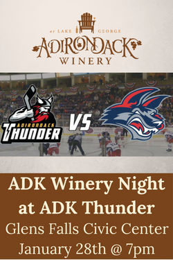 ADK Thunder Game ADK Winery Sponsor Night Jan 28