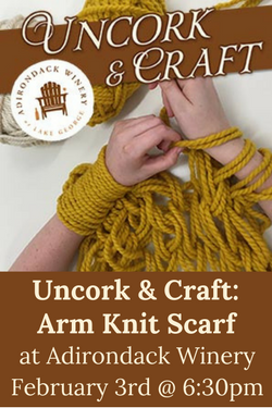 Adk Winery Uncork & Craft Arm Knit Scarf Feb 3rd