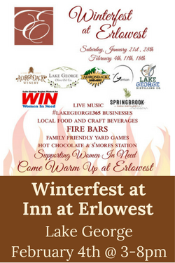 Winterfest at Erlowest Lake George featuring Adk Winery Feb 4th
