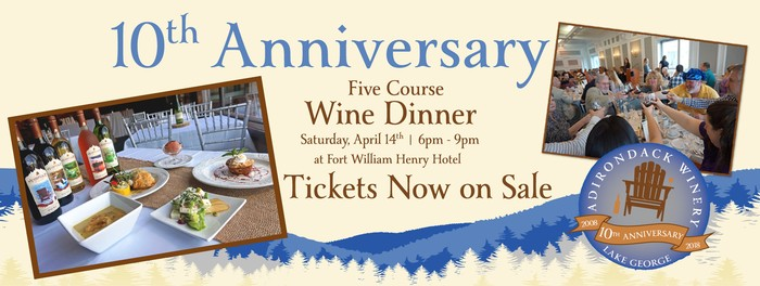 Wine Dinner Tickets Now on Sale