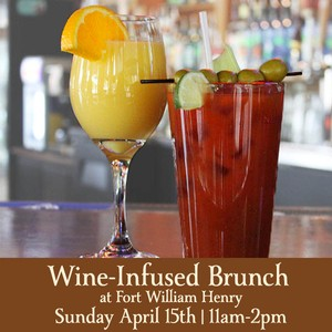 Sunday April 15th 2018 Wine Infused Brunch 11:00 – 2:00