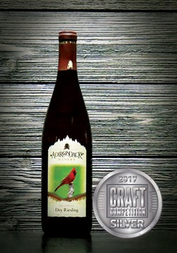 Adirondack Winery Dry Riesling 2017 Silver Craft Competition