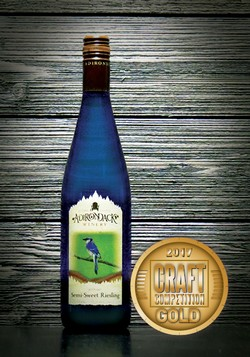 Adirondack Winery Semi Sweet Riesling Craft Competition Gold 2017