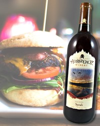 Burgers pair well with Syrah