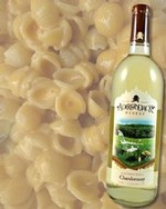 Mac & Cheese pairs well with Chardonnay