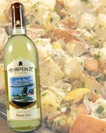 Potato salad pairs well with Pinot Gris