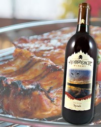 BBQ Ribs pair well with Syrah