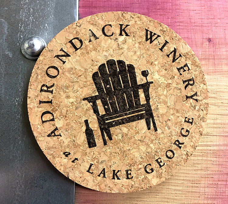 Adirondack Winery Logo Cork Coaster