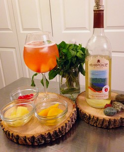 Peach Bourbon Smash Sangria