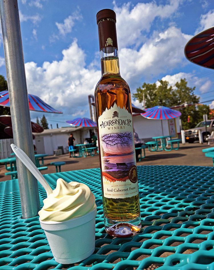 Adirondack Winery Iced Cabernet Franc with Martha's Ice Cream