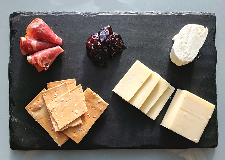 Our favorite simple cheese plate!