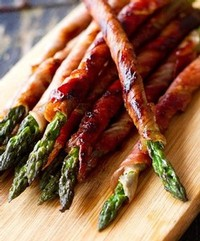 Prosciutto-Wrapped Asparagus. Photo credit and recipe from Eat Drink Paleo blog.
