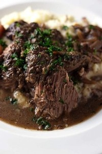 Red Wine Braised Beef Roast. Photo and recipe from So Damn Delish.