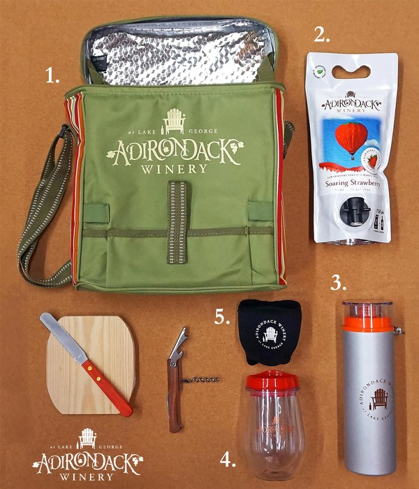 Adirondack Winery Survival Kit - 5 Must Have Items for a summer day out