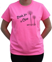 Adirondack Winery Drink for a Cure T-Shirt---No-bkgrd