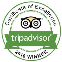 TripAdvisor 2016 Certificate of Excellence - Leave us a review!