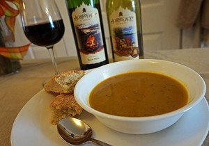 Try this wine infused butternut squash soup at Wine 101!