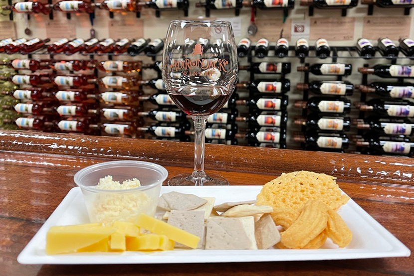 Cheese Lover's Tasting Plate at ADK Winery - Add One to Your Next Wine Tasting!