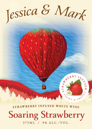 Soaring Strawberry 375ml Custom label - front