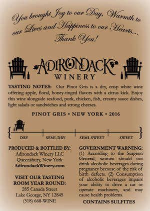 Pinot Gris 375ml custom label - rose - back