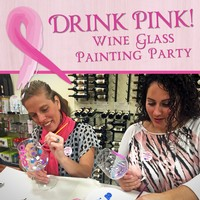Drink Pink Wine Glass Painting Party Sold out