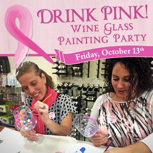 Drink Pink Wine Glass Painting Party at Adirondack Winery - Friday, October 13th, 2017