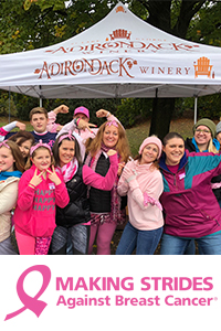 ADK Winery Crew at Making Strides Against Breast Cancer
