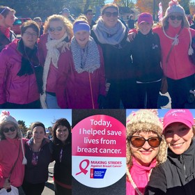 Adirondack Winery staff at the Making Strides Against Breast Cancer Walk