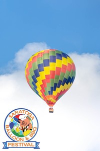 Hot Air Balloon with Saratoga Balloon & BBQ Logo