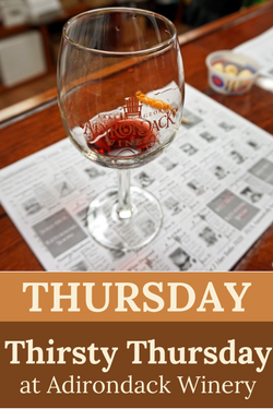 Thirsty Thursday at Adk Winery