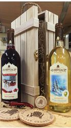 Adirondack Winery Wooden Wine Gift Box Holiday