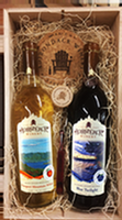 Adirondack Winery Wooden Wine Gift Box Sweet Inside