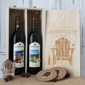 2 bottle wooden gift set