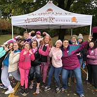 Adirondack Winery's Drink Pink Fundraising Team