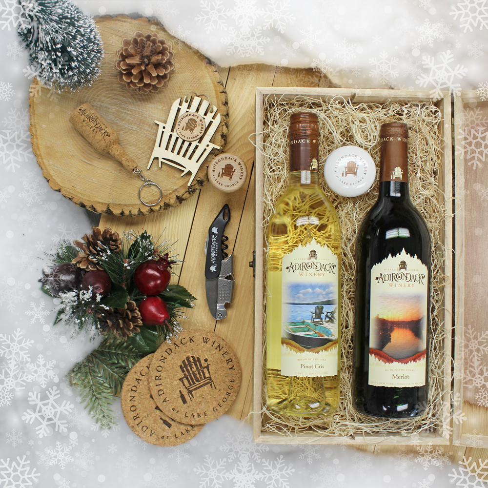 Adirondack Winery Wood Gift Box Adirondack Winery 2 Bottle Wooden Gift box open & Adirondack Winery - Shop - Wine Gift Boxes - Wooden 2 Bottle Wine ...