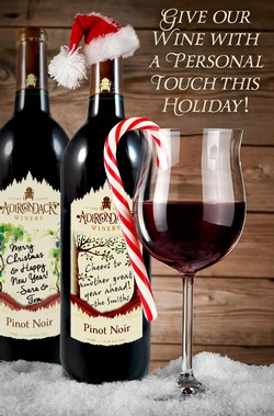 Pinot Noir Personalized Holiday Wine