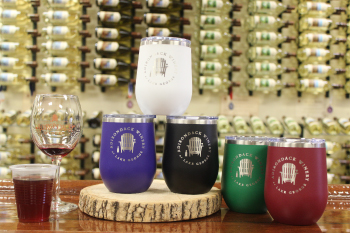 Stainless steel tumbler assortment with speciality cocktail