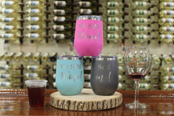 We Said Wine tumbler assortment with speciality cocktail