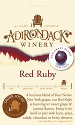 Adk Winery Red Ruby Shelf Talker