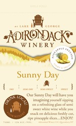 Adk Winery Sunny Day Shelf Talker