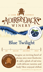 Adk Winery Blue Twilight Shelf Talker
