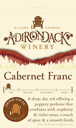 Adk Winery Cab Franc Shelf Talker
