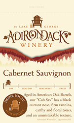 Adk Winery Cab Sav Shelf Talker