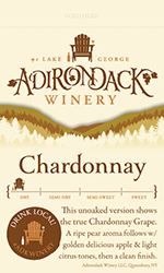 Adk Winery Chardonnay NV Shelf Talker