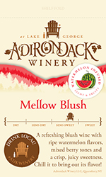 Adk Winery Mellow Blush Shelf Talker