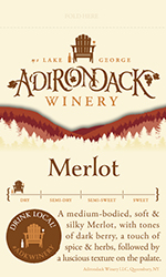 Adk Winery Merlot Shelf Talker