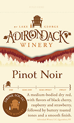 Adk Winery Pinot Noir Shelf Talker