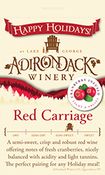 Adk Winery Red Carriage Shelf Talker