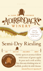 Adk Winery Semi Dry Riesling Shelf Talker