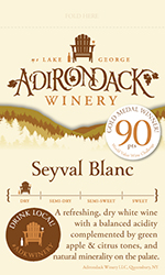 Adk Winery Seyval Blanc Shelf Talker